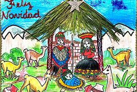 Prachtige kersttekening van Emiliano